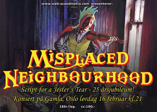 The Web Scandinavia present a Misplaced Neighbourhood tribute to Script for a Jester's Tear
